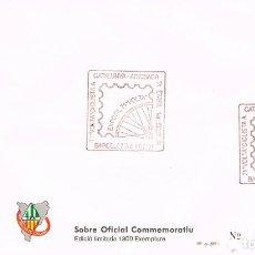 Sellos: AÑO 1991, BARCELONA, VUELTA CICLISTA A CATALUÑA, LA VOLTA, MATASELLO EN SOBRE OFICIAL NUMERADO. Lote 296865143