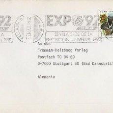 Sellos: AÑO 1989, EXPO 92, EXPOSICION UNIVERSAL DE SEVILLA, RODILLO DE VALLADOLID. Lote 296867828