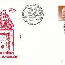 Sellos: AÑO 1989, FUENTE D'EN MANELIC, MATASELLO DE SANTA COLOMA DE GRAMENET, SOBRE DE ALFIL. Lote 296868128