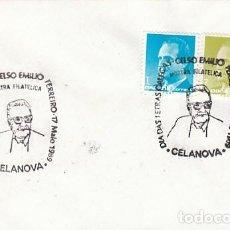 Sellos: AÑO 1989, DIA DE LAS LETRAS GALLEGAS, CELSO EMILIO, MATASELLO DE CELANOVA (ORENSE). Lote 296869203