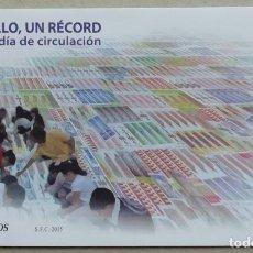 Sellos: 2015. ESPAÑA. SOBRE PRIMER DÍA DE CIRCULACIÓN. UN SELLO, UN RÉCORD. SIN CIRCULAR.. Lote 296966748