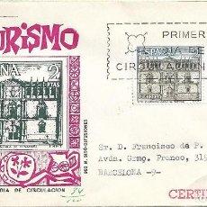 Sellos: UNIVERSIDAD DE ALCALA DE HENARES SERIE TURISTICA 1966 (EDIFIL 1733 DOS SELLOS) SPD CIRCULADO MS RARO. Lote 297096518