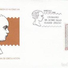 Sellos: EDIFIL 3024, CENTENARIO DE LA PRIMERA EMISION DE ALFONSO XIII, PRIMER DIA DE 2-10-1989 SOBRE DEL SF. Lote 297275958