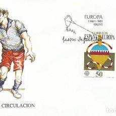 Sellos: EDIFIL 3008/9, EUROPA 1989, JUEGOS INFANTILES, PRIMER DIA DE 5-5-1989 SFC. Lote 297343183