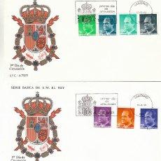 Sellos: EDIFIL 3001/7, SERIE BASICA: EL REY JUAN CARLOS I, PRIMER DIA DE 24-4 Y 16-6-1989 EN 2 SOBRE DEL SFC. Lote 297344198