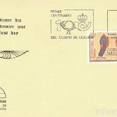 Sellos: EDIFIL 2998, PRIMER CENTENARIO DEL CUERPO DE CORREOS, PRIMER DIA DE 11-3-1989 IRIS MUNDUS. Lote 297352373