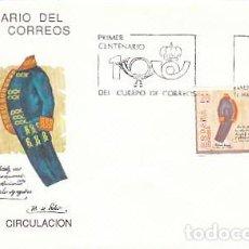 Sellos: EDIFIL 2998, PRIMER CENTENARIO DEL CUERPO DE CORREOS, PRIMER DIA DE 11-3-1989 SFC. Lote 297352453