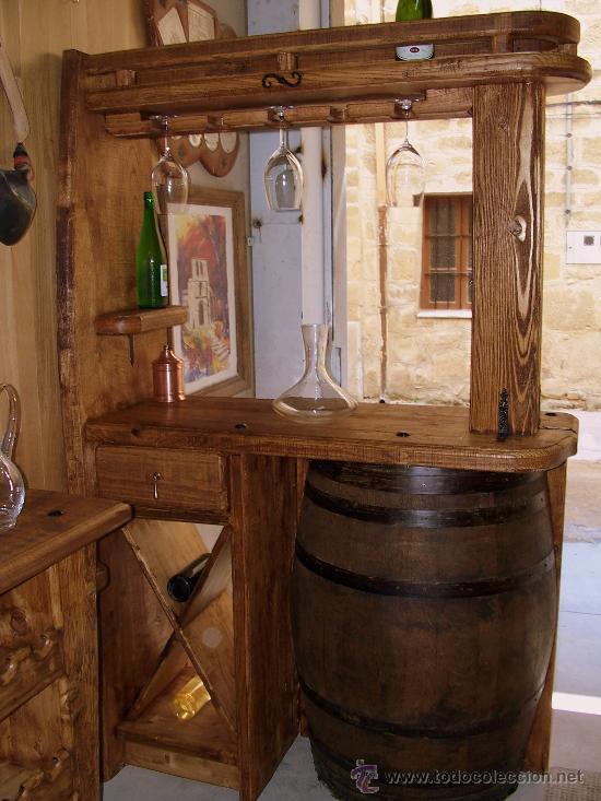 Muebles rusticos artesanales comprar vitrinas antiguas en todocoleccion 16876378 - Muebles de madera rusticos para cocina ...