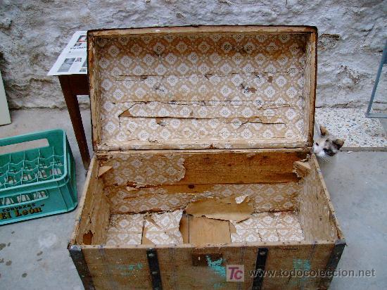 Baul antiguo comprar ba les antiguos en todocoleccion - Restaurar baules antiguos ...