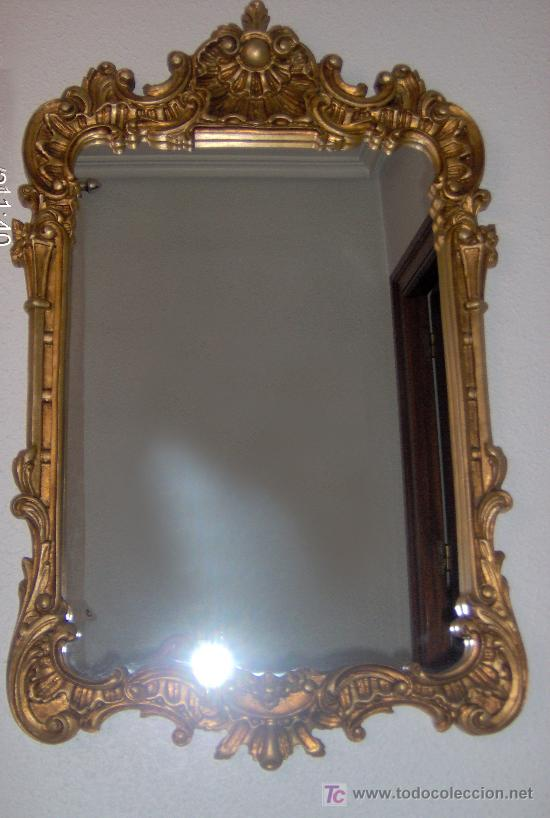 Consola y espejo estilo clasico en pan de oro r comprar - Repisas de marmol ...