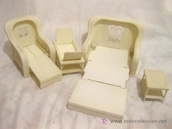 juego de sala con muebles de rattan de barbie - - Comprar Muñecas ...