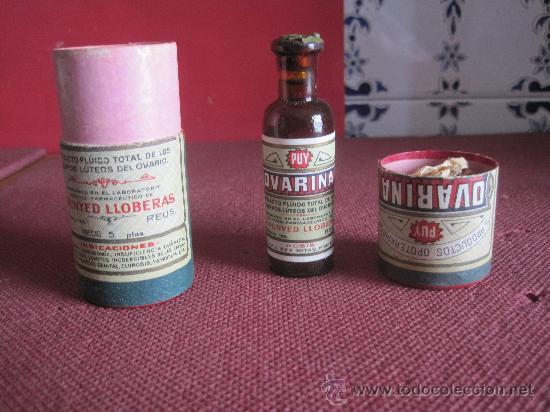 bote de carton de farmacia ovarina comprar botellas antiguas