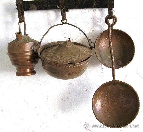 Utensilios de cocina en miniatura con percha comprar for Utensilios del hogar