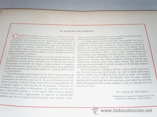 Militaria: EL SALON de las BATALLAS,sintesis de El Duque de Solferino,Presidente del Consejo Administracion del Fomento de la Prensa Tradicionalista. - Foto 12 - 19880132
