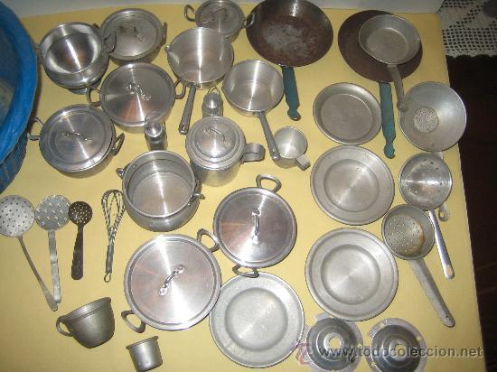 Gran lote de utensilios de juguete de cocina en comprar for Utensilios de cocina de aluminio