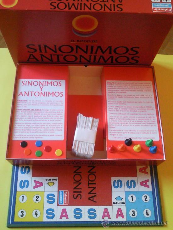 sinonimos y antonimos juego de mesa de falomir comprar