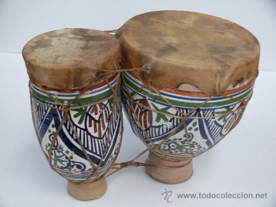 Antiguos Timbales De Ceramica Altura 25 Cm B Comprar