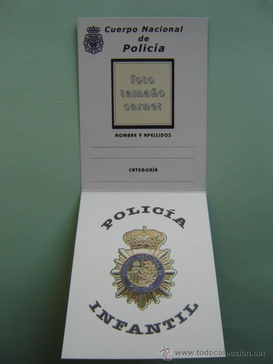 Carnet de polic a nacional infantil del minis comprar for Ministerio policia nacional