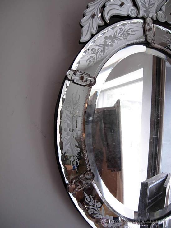 Precioso espejo veneciano antiguo comprar espejos - Espejo veneciano antiguo ...