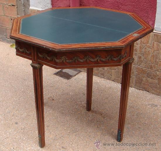 Preciosa mesa de juego plegable de estilo loui comprar mesas antiguas en todocoleccion 26915031 - Apliques de bronce para muebles ...