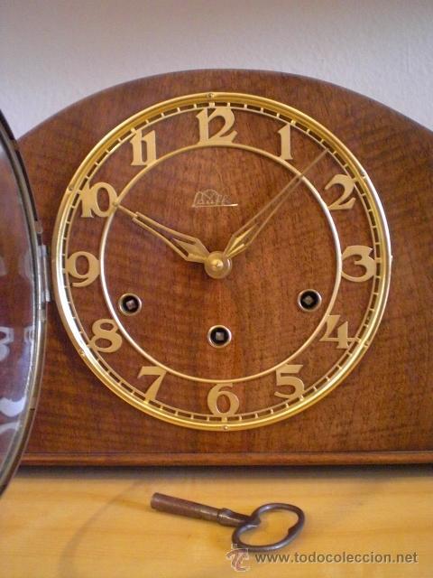 Reloj antiguo aleman chimenea mesa sobremesa c comprar - Relojes antiguos de mesa ...