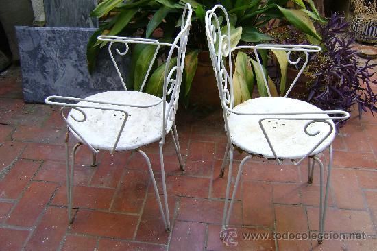 Sillas de hierro para jardin comprar muebles vintage en for Sillas para jardin de herreria