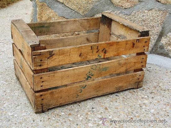 Caja de madera fruta antigua serigrafiada jo comprar cajas antiguas en todocoleccion 29114311 - Cajas de fruta ...
