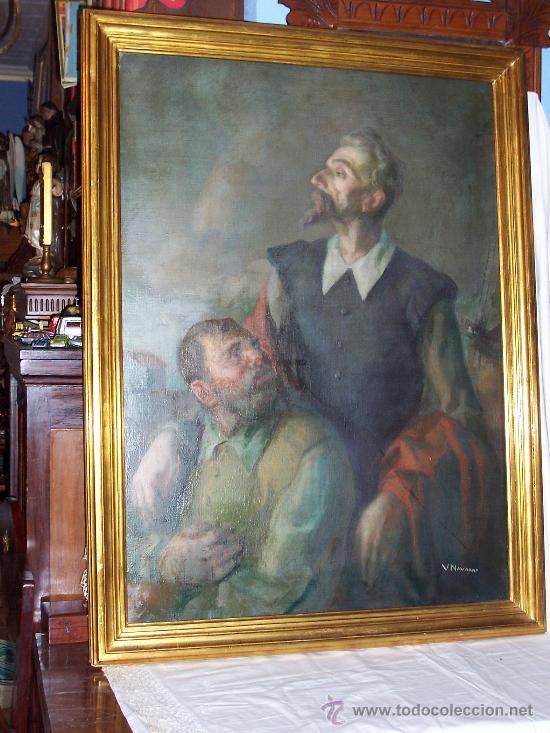 Pintura valenciana don quijote y sancho panza comprar - Vicente navarro valencia ...