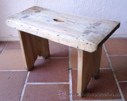 Banqueta rustica de madera antigua comprar sillas antiguas en todocoleccion 38846773 - Banqueta de madera ...