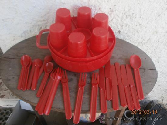 Juego de vasos platos y cubiertos para camping comprar en todocoleccion 30567872 - Cubiertos camping ...
