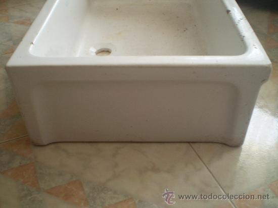 Pila de fregadero de gres vidriada en blanco ma comprar for Fregadero gres