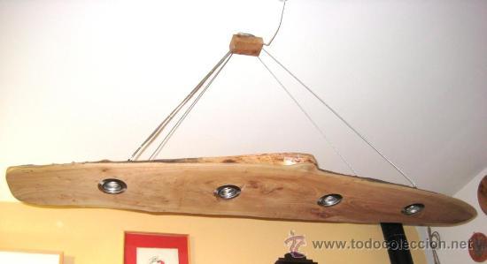 Lampara De Techo En Madera De Olmo Comprar Lamparas Vintage - Lamparas-de-techo-en-madera
