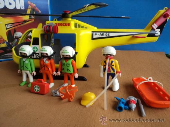Playmobil ref 3845 helicoptero completo comprar for Helicoptero playmobil