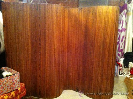 biombo en madera encerada estilo art deco