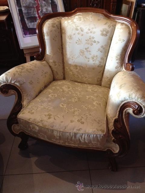 Oportunidad antiguos sofa 3 plazas mas sill n comprar for Sofas antiguos