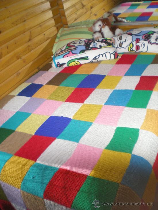 Antigua colcha manta grande de lana gruesa de p comprar - Mantas de lana hechas a mano ...