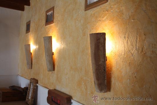 Aplique teja antigua flotante rustico luz inter comprar apliques antiguos en todocoleccion - Apliques de pared rusticos ...