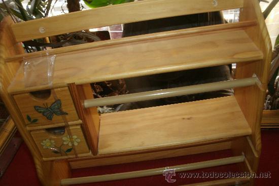 Peque o mueble auxiliar de cocina en madera par comprar for Mueble auxiliar pequeno