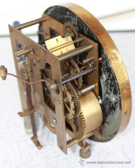 M quina antigua junghans alem n completo con comprar - Maquinaria de reloj de pared con pendulo ...