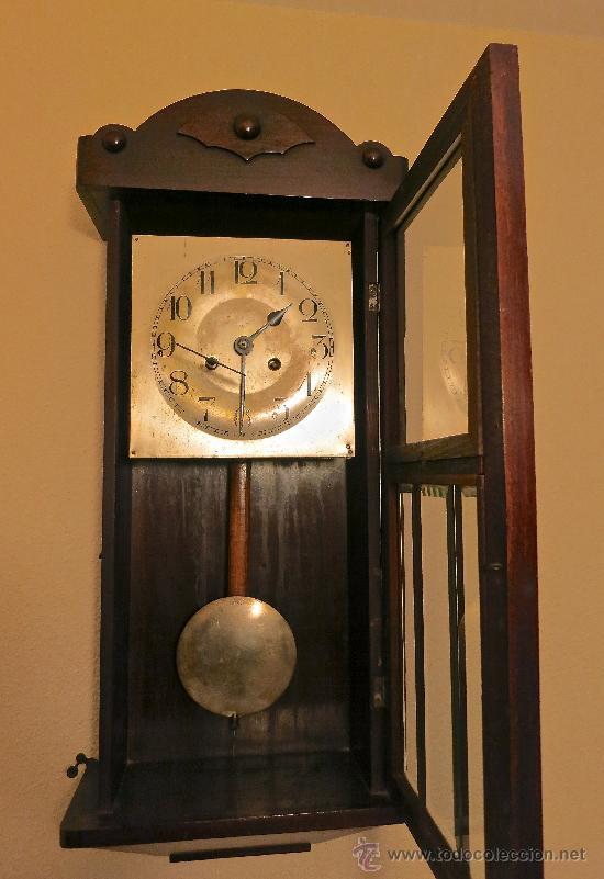 Reloj de pared antiguo con pendulo y llave func comprar - Relojes de pared clasicos ...