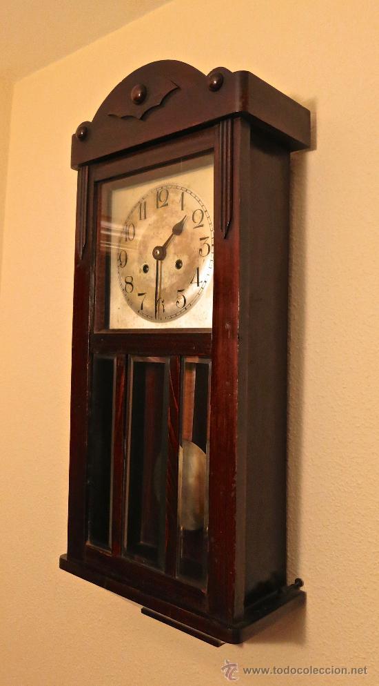 Reloj De Pared Antiguo Con Pendulo Y Llave Func Comprar