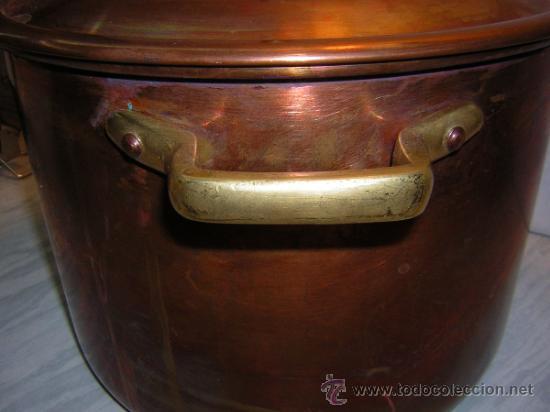 Olla cazuela de cobre y asas de bronce especial comprar - Cazuelas de cobre ...