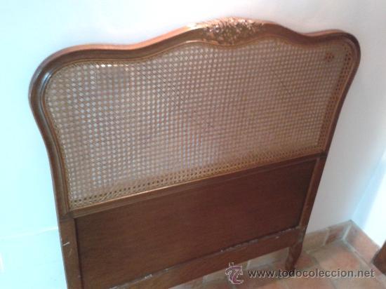 Cabecero de cama individual de madera maciza y comprar for Cabeceros segunda mano
