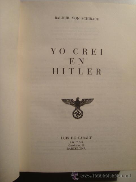 Libros de segunda mano: Portada interior del libro de Von Schirach. - Foto 2 - 36739618