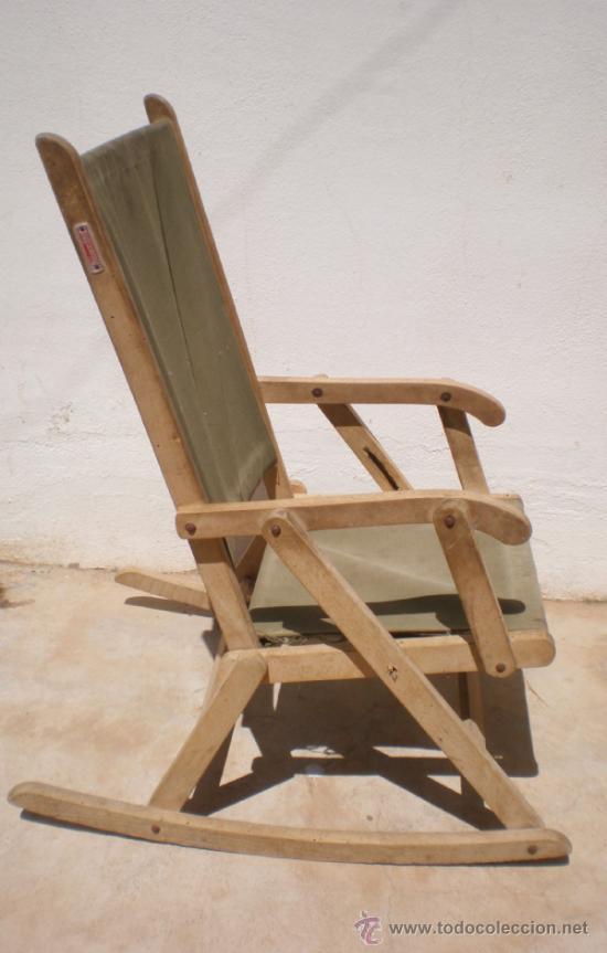 Antigua mecedora silla infantil plegable de ma comprar sillas antiguas en todocoleccion - Mecedora plegable ...