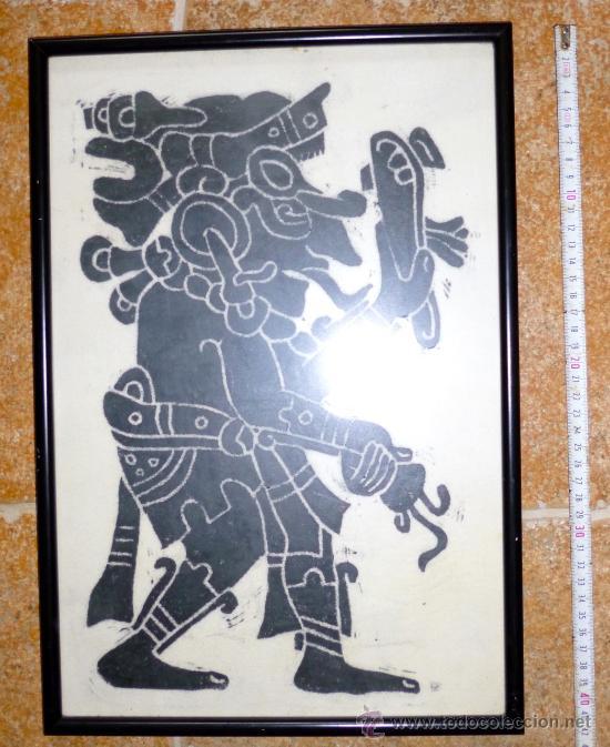 cuadro mexicano con tejido tipo batik -más de 2 - Comprar Arte ...