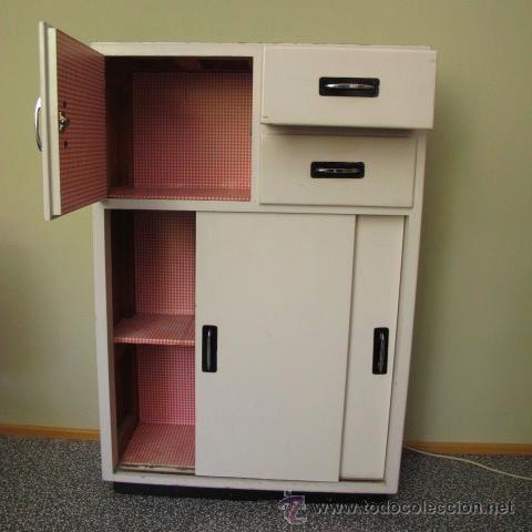Mueble auxiliar peque o armario alacena antigua comprar for Muebles de cocina anos 80