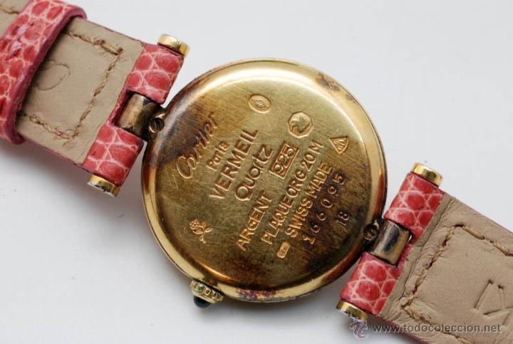 Reloj cartier en plata con ba o de oro cuarzo c comprar - Bano de oro precio ...