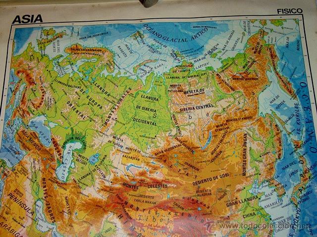 Worksheet. mapa mural escolar doble cara asia fisicopoli  Comprar Mapas