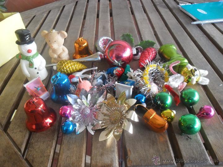 Lote de antiguos adornos de arbol de navidad comprar en for Adornos navidad online